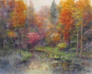 alberi sul fiume
